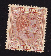 Cuba, Scott #129, Mint Hinged, King Alfonso XII, Issued 1888 - Cuba (1874-1898)