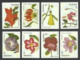 UGANDA 1988 FLOWERS  MNH - Uganda (1962-...)