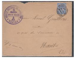 GRANDE-BRETAGNE -- LETTRE DE SHARFNESS POUR NANTES -- 1902-- - Marcophilie