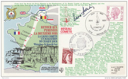 1981 Special SIGNED WWII Anniv MARATHON RACE BELGIUM / FRANCE FORCES COVER Stamps Athletics Sport - WW2 (II Guerra Mundial)