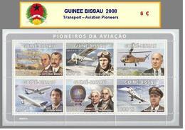 2008 - GUINEE BISSAU  - Transport – Aviation Pioneers - Guinea-Bissau