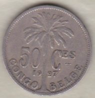CONGO BELGE , 50 CENTIMES 1927 , Légende Française .Albert I - Congo (Belgian) & Ruanda-Urundi