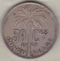 CONGO BELGE , 50 CENTIMES 1923 , Légende Française .Albert I - Congo (Belgian) & Ruanda-Urundi