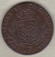 ESPAGNE. 25 Centimos De Real 1855 Segovia . ISABEL II - [ 1] …-1931 : Royaume