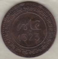 Maroc. 10 Mazunas (Mouzounas) HA 1323 (1905) FEZ. 2 Type, Frappe Médaille. Bronze. - Morocco