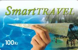 Denmark, DK-PRE-SMA-0002B, Smart Travel Paper Plane (White Value), 2 Scans. - Denmark