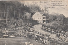 Gruss Aus Dem Waldrestaurant Charlottental - Niedereinsiedel In Böhmen - Tchéquie