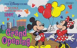Télécarte Japon / 110-192839 - DISNEY STORE GO - MICKEY MINNIE Ballon Balloon Fukuoka 1997 Japan Phonecard * ONE PUNCH * - Disney