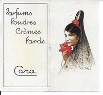 CARA Parfums Poudres Crèmes Fards  Rare Calendrier 1935 - Unclassified