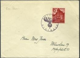 Deutsche  Post Osten, Bez. Posen, Brief Entwertet Mit  Dienstsiegel Schempin, - Occupation 1938-45