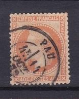 Timbre N° 31° - 1863-1870 Napoléon III Lauré