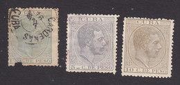 Cuba, Scott #100, 103-104, Used, King Alfonso XII, Issued 1882 - Cuba (1874-1898)