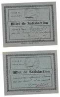 Billets De Satisfaction De 1935 - Diplômes & Bulletins Scolaires