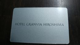 Japan-hotey Key-(494)-granvia Hiroshima-hotal-(looking Out Side)-used+1card Prepiad Free - Hotel Keycards
