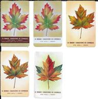5 Calendriers Plastifiés Banque Canadienne De Commerce 1948-1949-19501953-1954 Toronto - Calendars