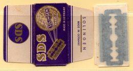 Rasage. Razor Blade. Lame De Rasoir. Lame SDS Solingen, Made In Germany. - Lames De Rasoir