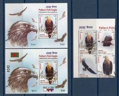 Bangladesh 2018 Birds Fish Eagles 2 SSs + 4v MNH - Arends & Roofvogels