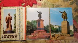 11 PCs Set - Ukraine. LENIN MONUMENTS. OLD USSR PC  - 1973 - Lenin Monument (demolished) - Monuments