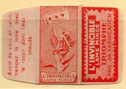 Rasage. Razor Blade. Lame De Rasoir. Lame L'Invincible. Made In France. - Razor Blades