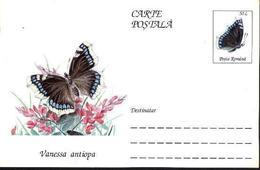 Papillon - VANESSA ANTIOPA   Entier Postal ( Carte Postale). RARE  Roumanie / Romania 1995 - Papillons