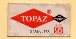 Rasage. Razor Blade. Lame De Rasoir. Lame Topaz. Made In India. - Lames De Rasoir