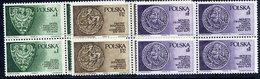 POLAND 1975 Piast Dynasty In Blocks Of 4 MNH / **. Michel 2416-18 - 1944-.... Republic