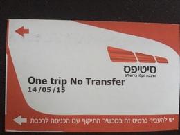 Ticket De Tramway Jerusalem - Metropolitana