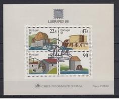 PORTUGAL 1986 HB-54 USADA (1º DIA) - Hojas Bloque