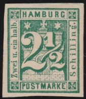 Hamburg   .    Michel    .   9      .        (*)          .         Kein  Gummi  .   /   .   No Gom - Hamburg