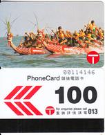 HONG KONG - Dragon Boat Festival, Hong Kong Telecom Telecard $100, Tirage 22000, 02/90, Used - Hong Kong