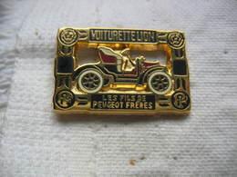 Pin's Des Fils De Peugeot Freres. Voiturette Lion - Peugeot