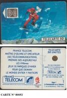 F150Da 546  TELECARTE SKIEUR 2 SC5AnP7 N° SERIE 80052 IMPACT 91/04 - France