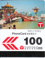 HONG KONG - Repulse Bay Pagoda, Hong Kong Telecom Telecard $100, Tirage 22000, 02/90, Used - Hong Kong