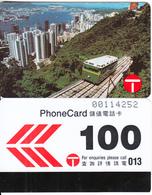 HONG KONG - Peak Tram Funicular Railway, Hong Kong Telecom Telecard $100, Tirage 22000, 02/90, Used - Hong Kong
