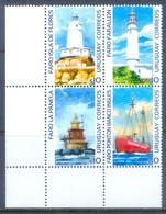 K88- URUGUAY 2003. LIGHTHOUSES. SHIP. - Lighthouses