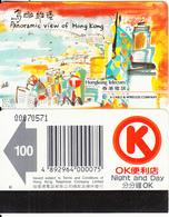 HONG KONG - Panoramic View Of Hong Kong/Victoria Harbour, HK Telecom Telecard $100(OK On Reverse), Used - Hong Kong