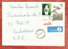 Luftpost, MiF Fayence-Deckelvase U.a., Ostrow Mazowiecka Nach Kiel 1984 (56134) - 1944-.... Republik