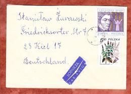 Luftpost, MiF Pfefferminze U.a., Ostrow Mazowiecka Nach Kiel 1984? (56135) - 1944-.... Republik