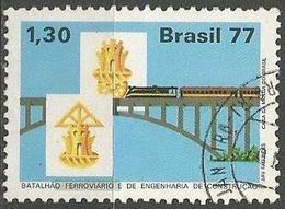 LSJP BRAZIL RAILWAY AND ENGINEERING BATTALION 1977 - Oblitérés
