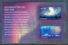 K93- USA 2007 International Polar Year Souvenir Sheet. - International Polar Year