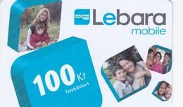 Denmark, DK-REF-LEB-0002, 100 Kr. Photos - Lebara, 2 Scans. - Denmark