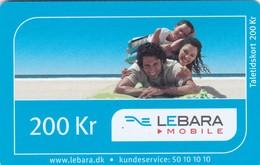 Denmark, DK-REF-LEB-?, 200 Kr. Photo - Lebara, 2 Scans. - Denmark