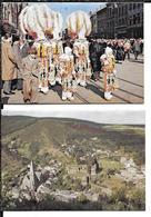 2 Calendriers 1957-1959 Assurances Incendie La Belgique Gilles De Binche TBE - Calendars