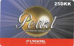 Denmark, 25DKK, Lycatel, Pearl, 2 Scans. - Denmark
