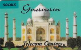 Denmark, GNA-DM-03, Taj Mahal - Gnanam - 50 DKK, 2 Scans. - Denmark