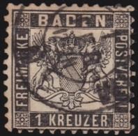 Baden    .    Michel    .     17    .       O           .       Gebraucht     .   /   .    Cancelled - Baden