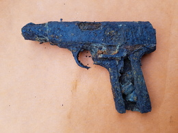 Ruby Pistolet épave Relique 14-18 WW1 Grande Guerre - 1914-18