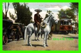 MEXICO - CHARRO - MEXICAN CHARRO - EDITOR  F. MARTIN - ANIMATED OLD CARS & TRAIN - - Mexique
