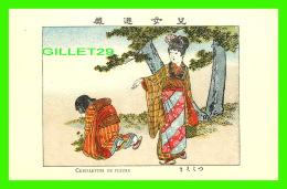 JAPON - CUEILLETTES DE FLEURS - IMP. FRANCISC. MISS, VANVES, SEINE - - Japon