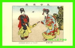 JAPON - JAPONAISES JOUANT AU VOLANT -  IMP. FRANCISC. MISS, VANVES, SEINE - - Japon